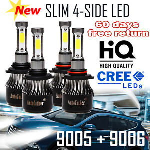 9005 9006 Combo Led Headlight 400w For Honda Civic 2004 2013 Odyssey 2005 2010