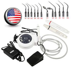 Usa Dental Ultrasonic Scaler With Handpiece Tips Fit Ems Woodpecker E3 Ds6