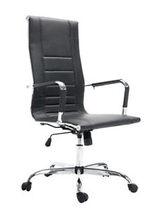 Luxury Pu leather High Office Desk Task Computer Chair Boss Executive Chair Seat