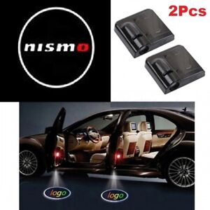 2x Nismo Car Door Welcome Led Lights Courtesy Projector Ghost Shadow Sticker