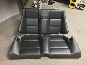 Bmw E46 M3 Convertible Complete Black Leather Rear Seat