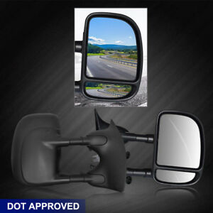 Manual Extension Tow Elescoping Side Rear View Mirrors L r 99 07 Fit Ford F250