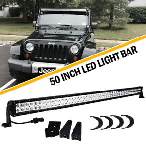 50inch 288w Straight Led Work Light Bar Combo Offroad Truck Offroad Suv 48 52