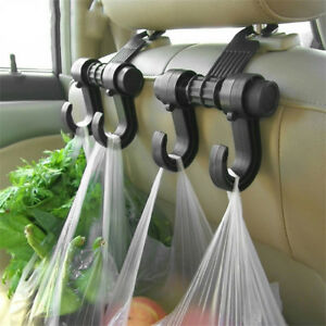 1pc Black Car Seat Back Storage Hook Sundries Hanger Bag Holder Multifunctional