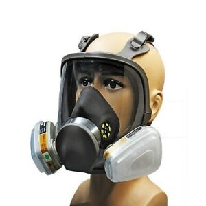 3m 6000 Series Full Face Vapor Dust Mask Respirator 6800 Spray Paint New