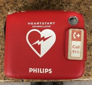 Used Philips Aed Defibrillator Frx With Peds Key And Case