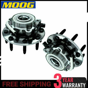 Moog Front Wheel Bearing And Hub Assembly Set Chevy Gmc 4x4 Truck S Abs Pair