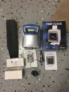Time Clock Used Timex T100 And Acroprint Atr 120