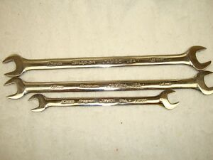 Snap On Slimline Low Torque Wrench Set Excellent Like New 3 Pieces Metric