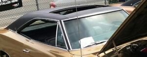1968 1969 1970 Dodge Charger With Sunroof Oe Black Boar Vinyl Top Roof Cover