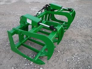 John Deere Tractor Loader 72 Dual Cylinder Root Grapple Bucket 99 Ship