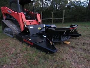 Cat Skid Steer Attachment 72 Direct Drive Brush Cutter Bush Hog Free Ship