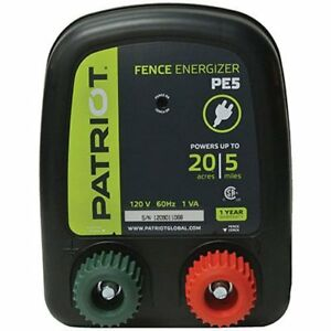 Electric Fence Energizer 0 2j Pe5 Patriot Charger 5 Mile Keep Out Small Animals