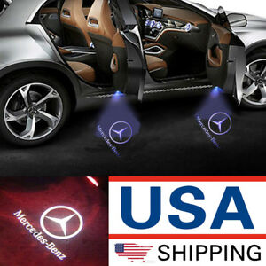 2 Ghost Car Door Led Logo Welcome Light Laser Shadow For Mercedes Benz C200 C300