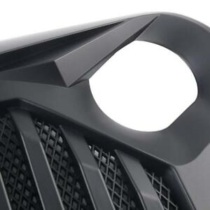 Tj Overlay Upper Grille Front Hood Black Grill No Painted 97 06 Jeep Wrangler