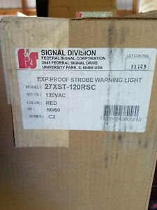 Federal Signal 27xst 120rsc Red Explosion Proof Led Strobe Warning Light