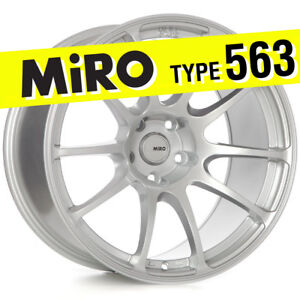 Miro 563 18x10 5 Silver 5x114 3 20 Wheels Rims set Of 4 Fits Mitsubishi Evo