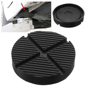 Universal Car Cross Slotted Frame Rail Floor Jack Rubber Pad Adapter For Weld
