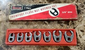 Nice Snap On 207sfrh Flare Nut Sae 3 8 Drive 7 Piece Crowfoot Socket Wrench Set