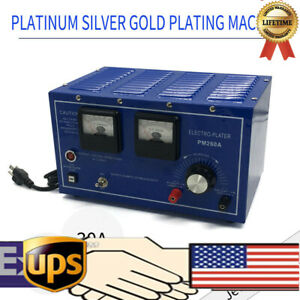 Platinum Silver Gold Plating Machine Jewelry Plater Electroplating Rectifier New