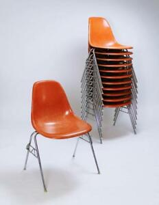 Fiberglass Dss Stacking Chair By Ray Charles Eames For Herman Miller Vitra