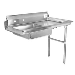 36 All Stainless Steel Soiled Dish Table On Right