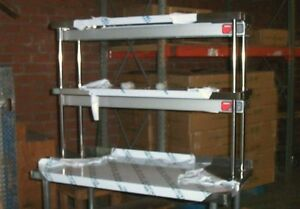 12 x48 Stainless Steel Double Tier Over Shelf