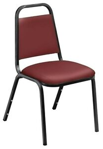 Lot Of 100 Burgundy Stack Chair