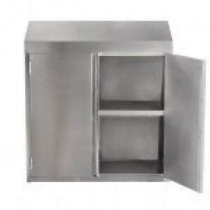 15 x36 Stainless Steel Commercial Wall Mount Storage Cabinet With Hinged Doors