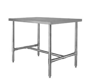 24 X 24 Stainless Steel H Frame Dining Table