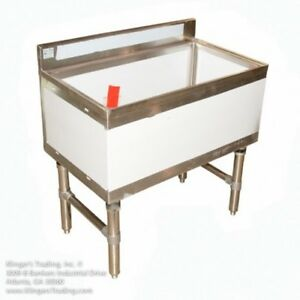 18 X 36 Stainless Steel Ice Chest Bin