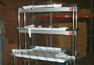 16 x48 Stainless Steel Double Tier Over Shelf