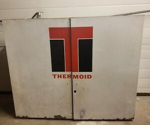 Vtg Thermoid Parts Shop Garage Metal Wall Cabinet Industrial Tool Mechanic