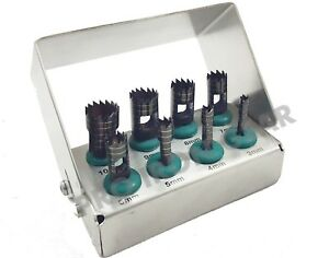 8 Pcs Dental Trephine Drills Kit For Implant Surgical Surgery