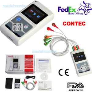 Contec Tlc9803 Hand held Ecg ekg Holter Monitoring Recorder System Promotion