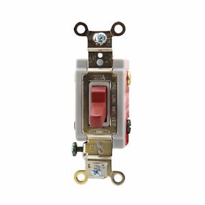 Hubbell Wiring Hbl1224r 4 way Toggle Switch Spec Grade 20a 120 277v Red