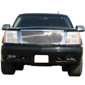 02 06 Cadillac Escalade Front Top Grille Grill Aluminum Polished 2003 2004 2005