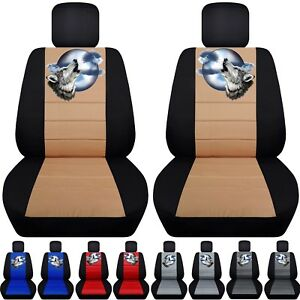 Fits 2008 2017 Ford Expedition Car Seat Covers With Wolf Design Choose Color