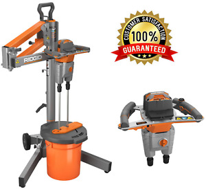 Thinset Mixer Grout Mixing Drill Mortar Concrete Dual Paddle Electric Portable