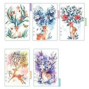 Lzttyee Deer Translucent Index Dividers Category Page Tabs Indexing Cards
