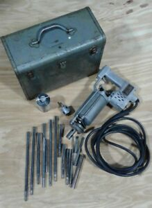 Vintage Very Rare Syntron Type 10 ro Electric Hammer Drill W Syntron Bits