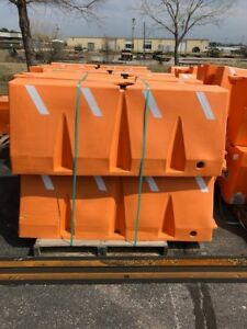 Used Uline Orange Traffic Barrier 60 X 16 X 24 Sold By The Each