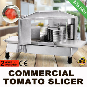 Commercial Tomato Slicer Cutter 3 16 Vegetable Consistent Cutting Machine