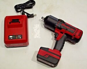 Snap On Ct8850 1 2 Drive 18v Lithium Cordless Impact Wrench Kit Electric Gun
