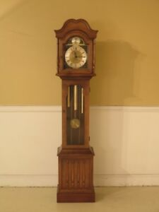 F43478 Ridgeway Tempus Fugit Small Grandfather Hall Clock