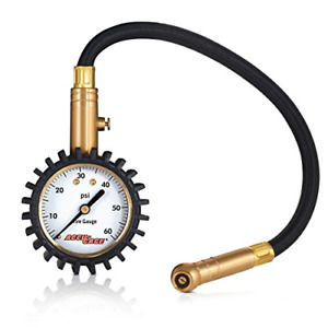Accu Gage Rh60xa Professional Tire Pressure Gauge With Protective Rubber Guard