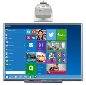 Interactive Smart Board Sb660 And Viewsonic Pjd6383s Short Throw Projector