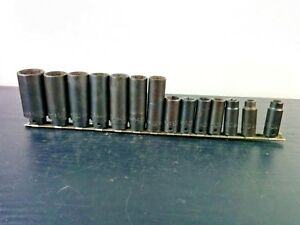 ac521 Mac Tools 3 8 Drive 6pt Metric Deep Impact Socket Set 8 19 21 24mm Usa
