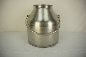 Vtg Stainless Steel Delaval Milk Can Bucket 5 Gallon Pail Farm Dairy Bail Handle