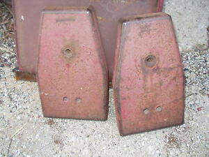 Farmall F12 F14 Tractor Original Set Ih Frame Rail Weights